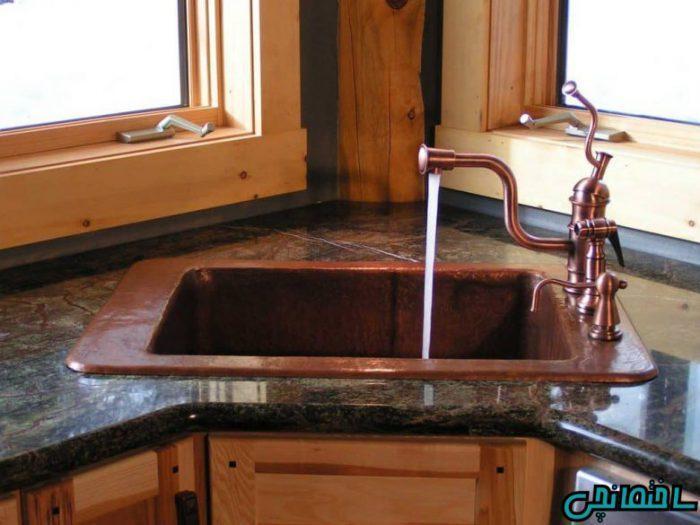 سینک ظرفشویی مخصوص کنج آشپزخانه